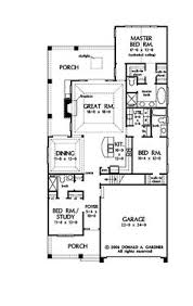 images about narrow house on Pinterest   Narrow Lot House    Stylish Plan for a Narrow Lot  HWBDO     Bungalow House Plan from BuilderHousePlans