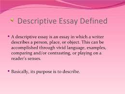 descriptive essays examples descriptive writing  descriptive essay