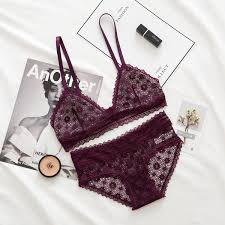 2019 <b>Roseheart Women Fashion</b> Lace Wireless Unlined Bra Bra Set ...