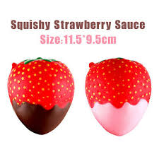 <b>11.5 cm</b> Strawberry Scented Squishy Slow Rising <b>Squeeze Toys</b> ...