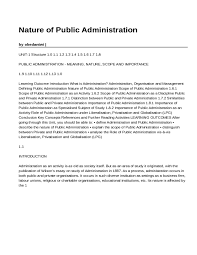 what is administration studypool nature of public administrationby obedantwi unit 1 structure 1 0 1 1 1 2 1 3 1 4 1 5 1 6 1 7 1 8public administration meaning nature