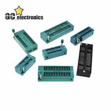 <b>6PCS IC LOCK Seat</b> Zif Socket Test Universal Zif Sockets 18Pin ...
