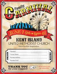 carnival flyer template carnival flyer template see school carn