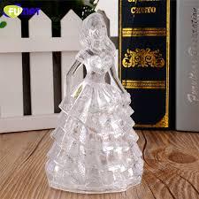 FUMAT Night <b>Light Colorful</b> Acrylic Princess Girl Night <b>Lamp Abajur</b> ...