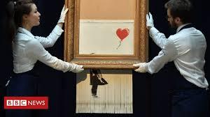 Will Gompertz on Banksy's shredded <b>Love is in the</b> Bin - BBC News