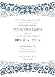 wedding invitation templates  excel pdf formats printable wedding invitation template