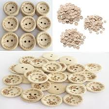 <b>50pcs</b>/100pcs/bag 15mm/<b>20mm</b> Dia <b>2 Holes</b> Handmade with Love ...