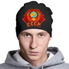 """Шапка классическая унисекс """"<b>Герб СССР</b>"""" #935754 от gopotol ..."""