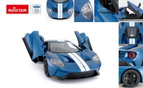 RASTAR <b>RC</b> Car Blue Open Doors by Manual <b>1/14</b> Ford GT <b>Remote</b> ...