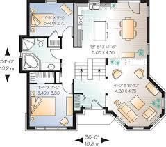 Affordable Split Level House Plan   DR   st Floor Master    Floor Plan