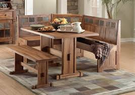 image of breakfast nook table and benches breakfast nook furniture