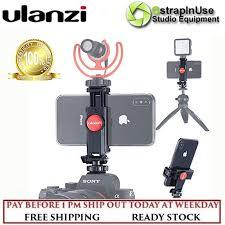 <b>Ulanzi ST-06 Adjustable</b> Phone Holder with 1/4 Screw Hot Shoe ...