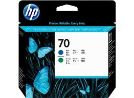 <b>HP 70</b> Blue and <b>Green</b> DesignJet Printhead - <b>HP</b> Store Australia
