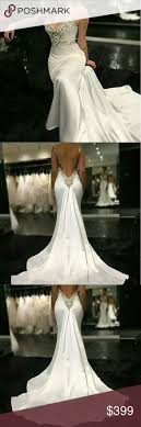<b>Sexy mermaid wedding dress</b> with Crystal bling Backless spaghetti ...