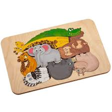 <b>Пазл</b>-<b>раскраска Wood</b> Games, <b>африканские</b> животные (артикул ...