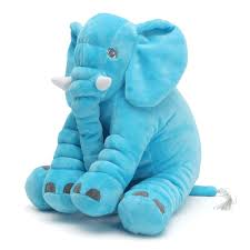 Elephant Sleeping Pillow Soft Stuffed Plush Doll Toys <b>Baby Kids</b> ...