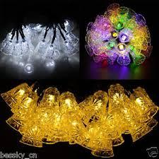5M <b>20LED</b> Bell Solar <b>String</b> Lights Outdoor Xmas <b>Wedding</b> Party ...