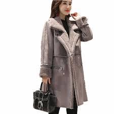 Autumn <b>Women Suede Fur Winter</b> Coat 2019 New Fashion Thick ...