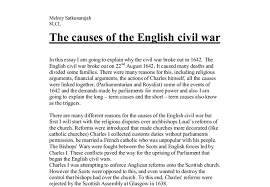 the causes of the english civil war  alevel history  marked by