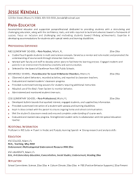 cover letter for paraeducator example resumecareer resume templates
