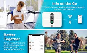 Etekcity <b>WiFi Smart</b> Scale, USB Rechargeable <b>Bluetooth Body</b> Fat ...