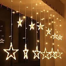 <b>LED String</b> Lights <b>Star</b> Curtain Lights 12 <b>Stars</b> 138 LEDS , Warm White