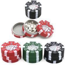 2019 <b>Mini</b> Poker Chip <b>Grinder</b> Tobacco Herb <b>Grinders 3 Layers</b> ABS ...