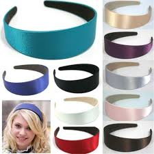 Lady <b>Solid Satin</b> Hair Band Plain Alice Hairband Bow Hoop 3cm ...