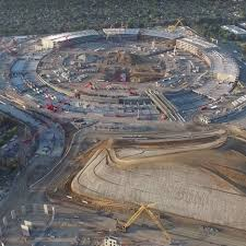 drone movie shows foster partners apple campus 2 beginning to rise out of the ground apple head office london