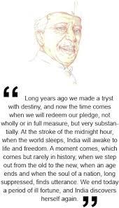 jawaharlal nehru independence day speechsee also edit