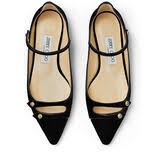 <b>Black</b> Velvet <b>Flat</b> Pointed Toe Pumps|LAYTON <b>FLAT</b>| <b>Autumn Winter</b> ...