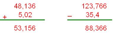 Resultado de imagen de suma decimales