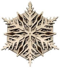 <b>Конструктор</b> из дерева Wood Trick Вудик Снежинка