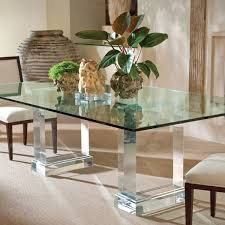 Glass Top Pedestal Dining Room Tables Classic Traditional Bamboo Frame Dining Table Set With Glass Top