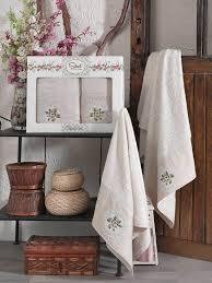 <b>Комплект полотенец</b> SIKEL Бамбук с <b>вышивкой</b> в коробке (50x90 ...