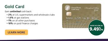 general electric credit union credit cards mortgages checking gecu gold card earn unlimited cash back