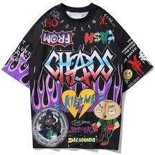 <b>Chaos</b> Tee Shirt | Tee shirt homme, Hip hop, T shirt