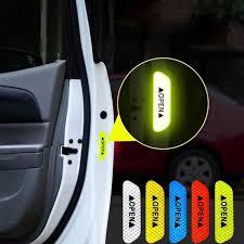 <b>4PcsSet</b> Car <b>Door</b> Stickers <b>DIY</b> Car <b>OPEN</b> Reflective Tape Warning ...