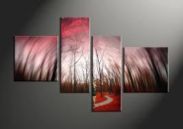 decor canvas art forest