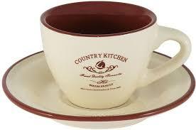 """Чашка с блюдцем <b>Terracotta</b> """"<b>Кухня</b> в стиле <b>Terracotta</b> """"Кантри ..."""