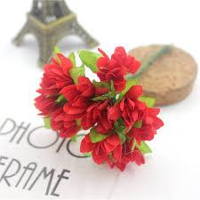 <b>12 Pcs</b> / <b>Lot</b> Sunflower Clothing Bouquet Wedding Flower Plum ...