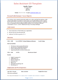 sales assistant cv template   tips and download – cv plazasales assistant cv example