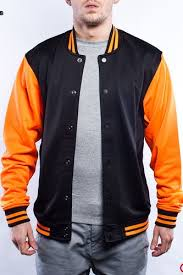 <b>Толстовка URBAN CLASSICS Neon</b> College Jacket (Black-Orange ...
