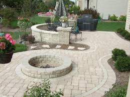 inspiration exterior exciting rounded fire pit ideas with outdoor furniture in black as simple patio ideas browse cement furniture
