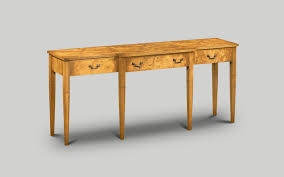 amc104 breakfront serving table burr poplar w152cm60in d51cm20in h76cm30in art deco replica furniture