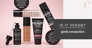 Is <b>GOSH</b> Cruelty-Free? | <b>GOSH</b> Cosmetics Vegan Product List (2019)