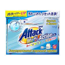 Attack Multi-Action <b>Концентрированный стиральный порошок</b> для ...