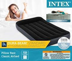 <b>Intex</b> Dura-Beam Series <b>Pillow Rest</b> Classic Airbed with Internal ...
