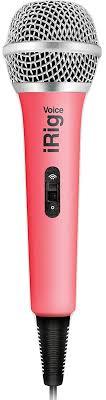 Купить вокальный <b>микрофон IK Multimedia iRig</b> Voice (Pink) в ...