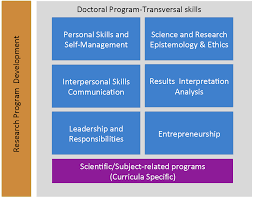 teaching programmes international school of advanced studies unicam schematic representation of the educational doctoral program at the international school of advanced studies sas light blue transversal skills organized